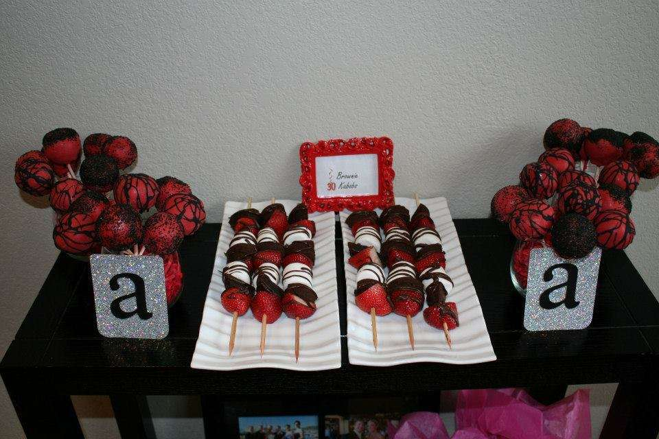 Black Red Bling Birthday Party Ideas Photo 8 of 10 Catch My Party