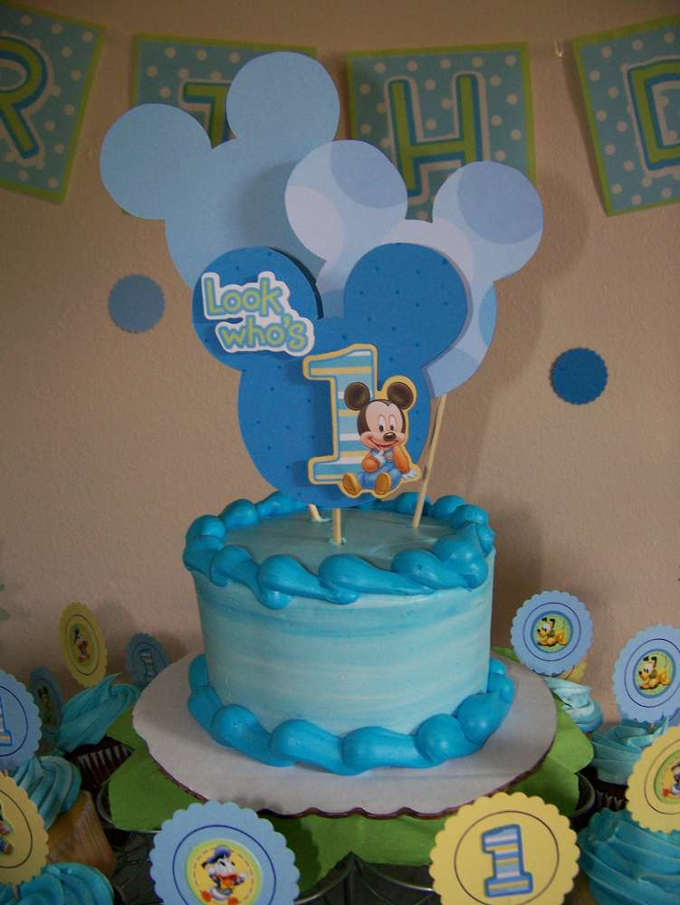 Baby Mickey Mouse Birthday Party Ideas  Photo 1 of 39  Catch My ...