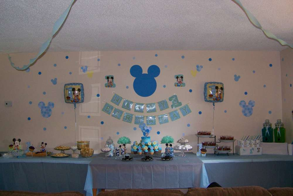 Baby Mickey Mouse Birthday Party Ideas  Photo 2 of 39  Catch My ...