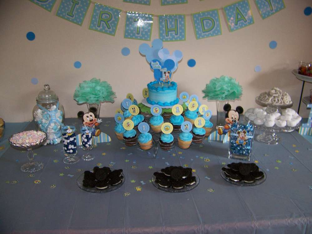 Baby mickey mouse birthday party ideas photo 10 of 39 for Baby mickey mouse decoration