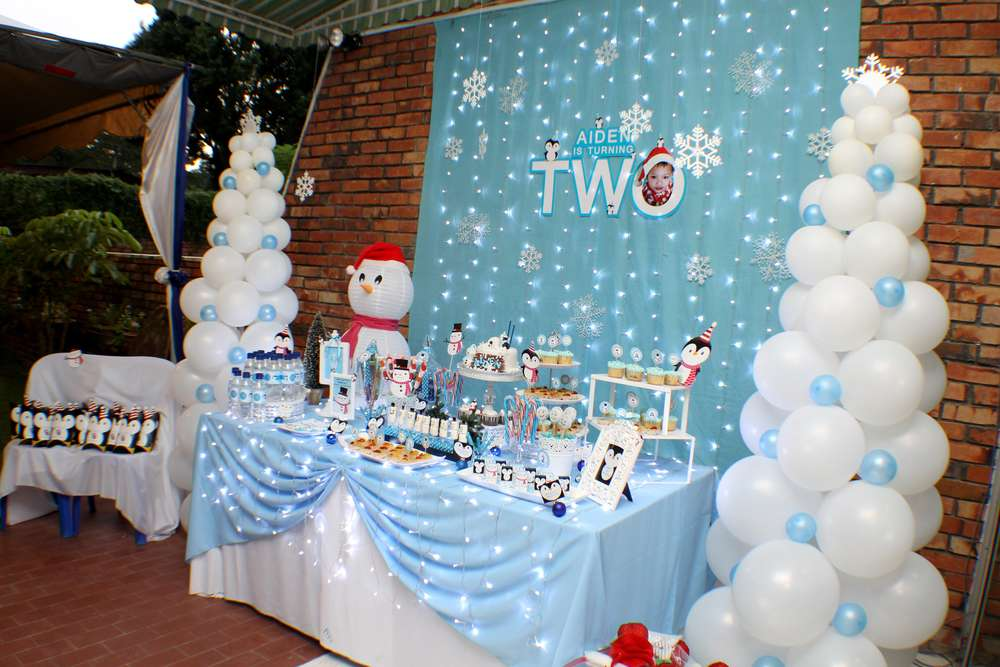 winter wonderland Birthday Party Ideas Photo 1 of 22 Catch My Party