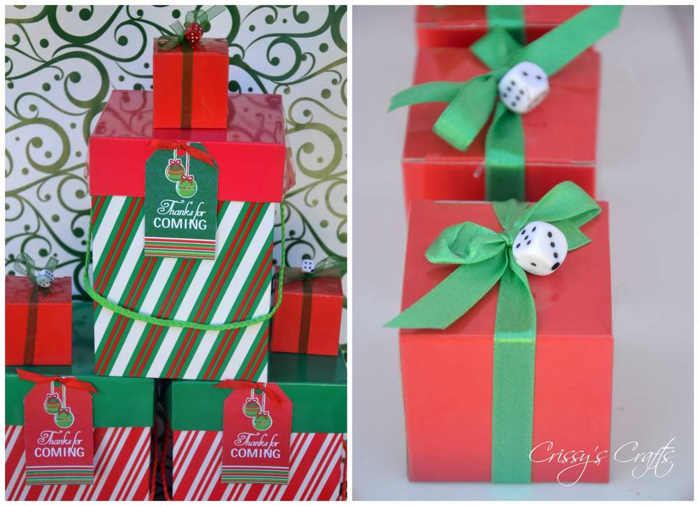 Bunco Christmas Party Ideas Part - 21: Holiday Bunco Christmas/Holiday Party Ideas | Photo 1 Of 17 | Catch My Party