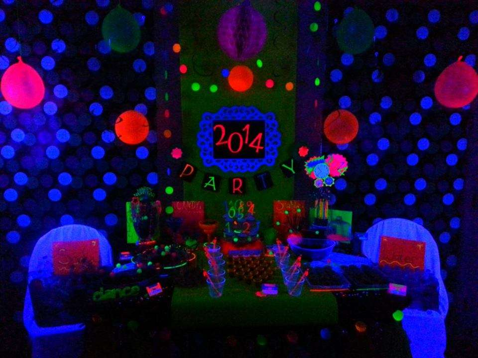 Neon New Years Party Black Light