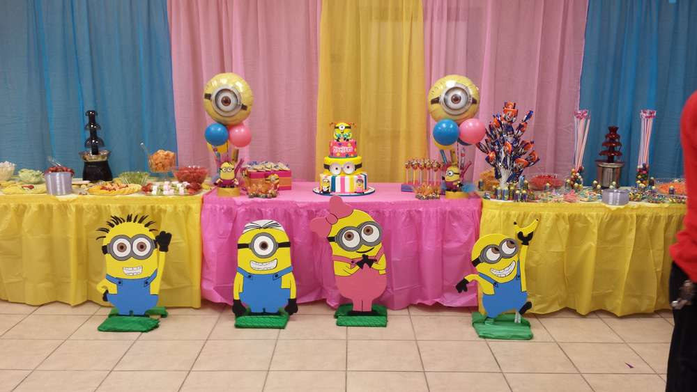 Pink Minions Birthday Party Ideas