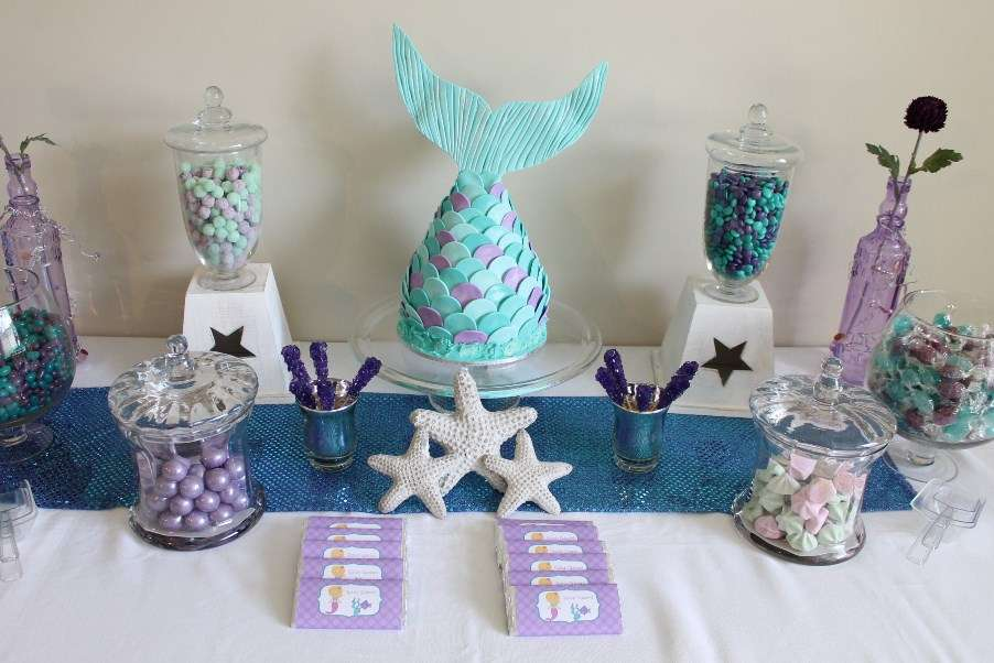 Mermaid Birthday Party Ideas Photo 3 Of 16 Catch My Party