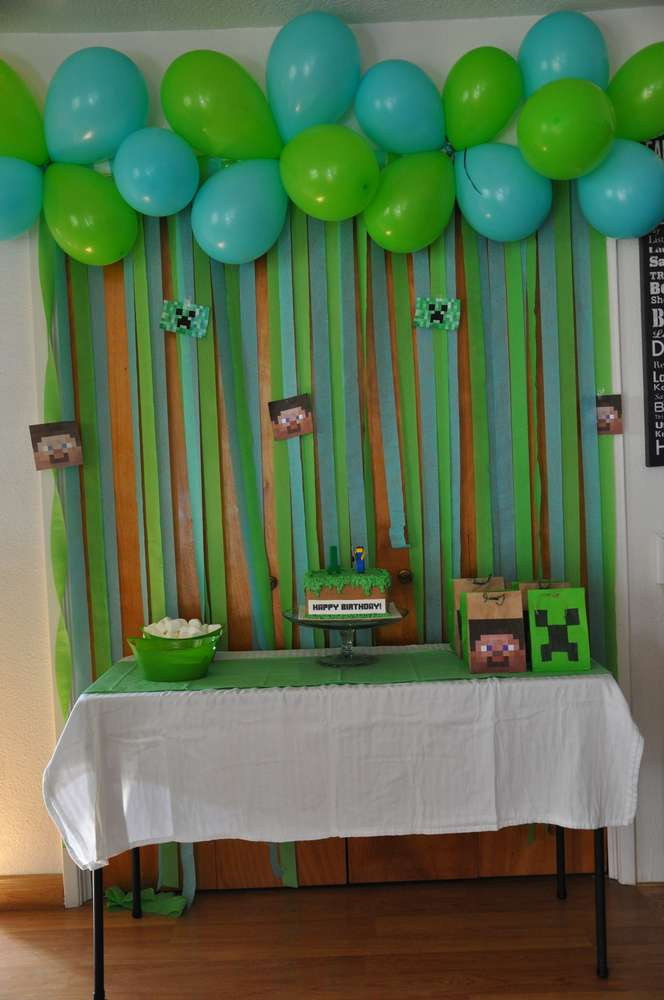 Minecraft Birthday Party Ideas Photo 7 Of 7 Catch My Party