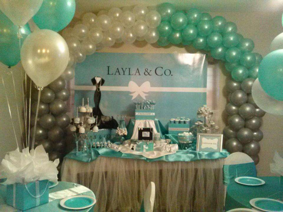 Tiffany Co Birthday Party Ideas Photo 1 Of 65 Catch My Party