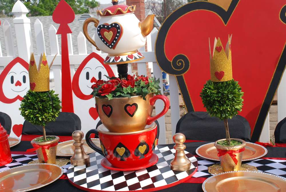 Wonderland Queen Of Hearts Valentine Birthday