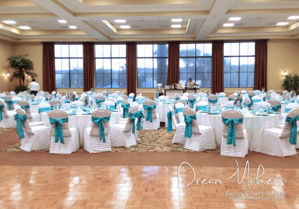 Turquoise White Silver Wedding Decor