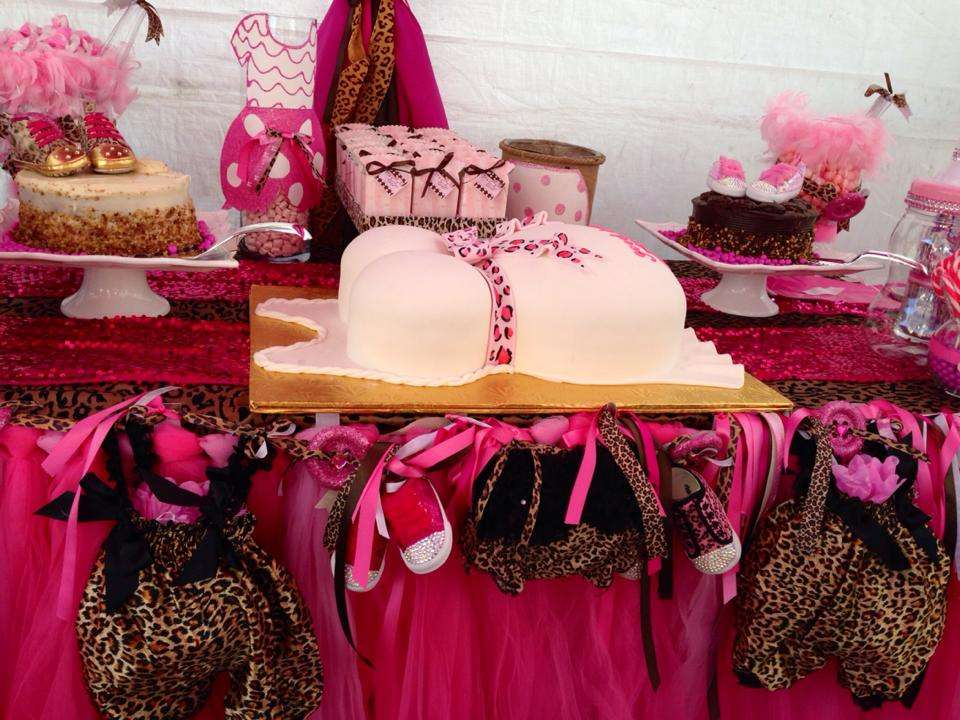 Pink Cheetah Baby Shower Party Ideas Photo 1 Of 16