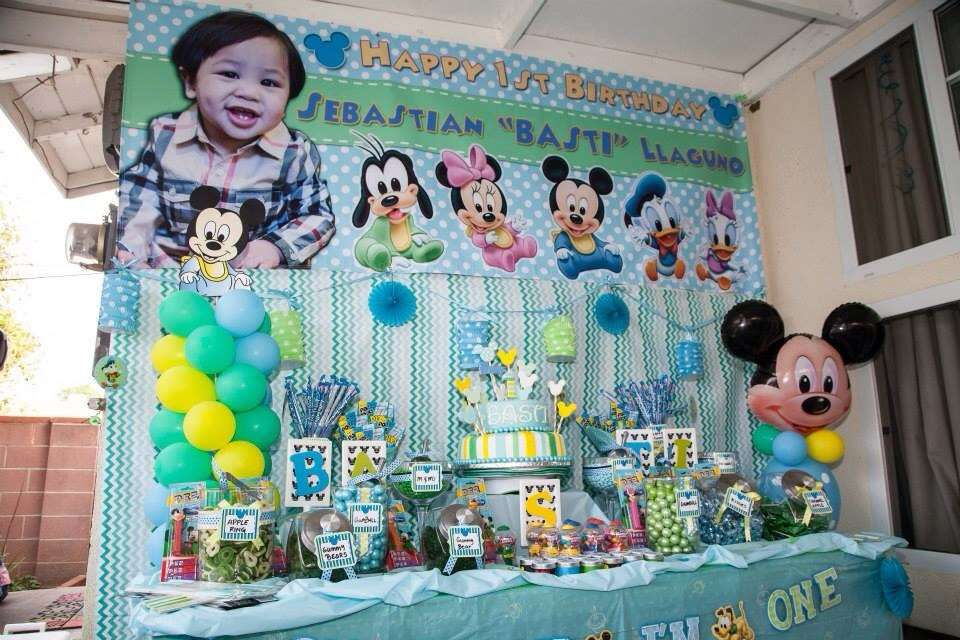 Baby Mickey Mouse Birthday Party Ideas | Photo 25 of 40 | Catch My ...