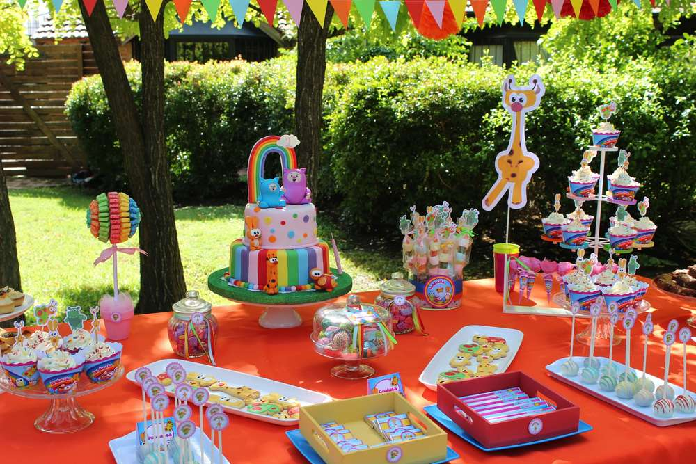 Rainbow Animals Birthday Party Ideas Photo 2 Of 16 Catch My Party