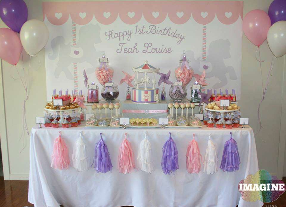 Carousel Birthday Party Ideas Photo 1 Of 13 Catch My Party
