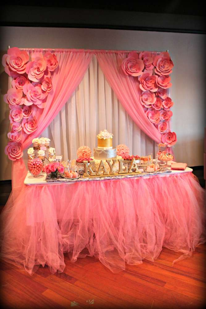 It S A Girl Pink And Silver Baby Shower Party Ideas Photo 20 Of