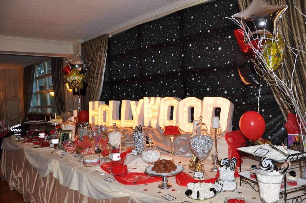 Hollywood birthday party ideas photo 3 of 16 catch my for Hollywood party dekoration