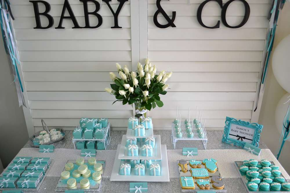 tiffany co baby shower party ideas photo 1 of 11 catch my party
