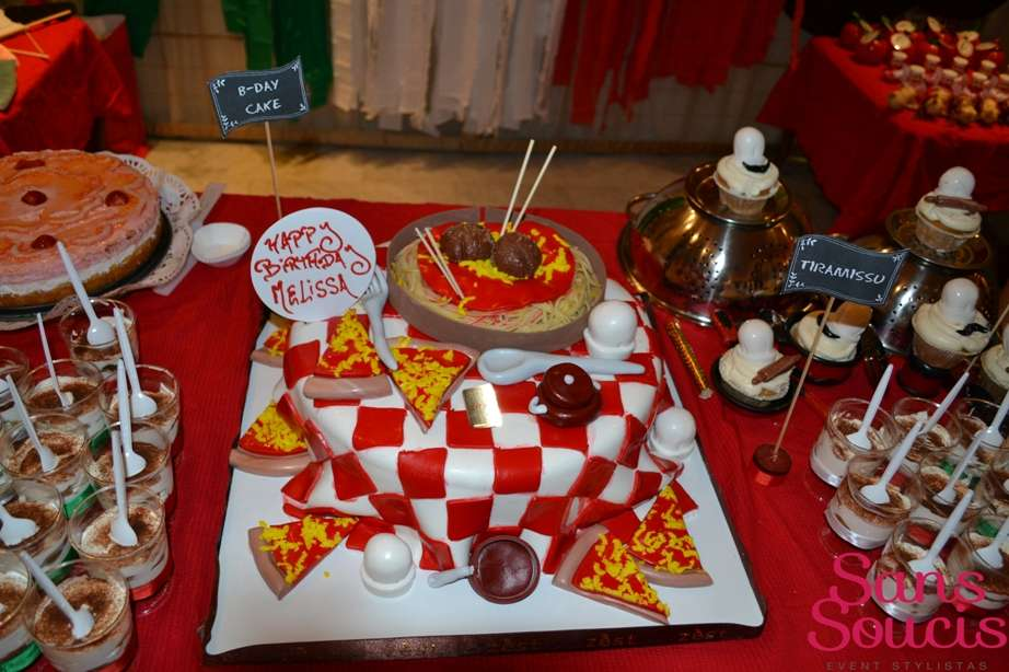 Themed Dinner Party Ideas Part - 34: Italian Pasta Pizza Birthday Party Ideas | Photo 14 Of 15 | Catch My Party