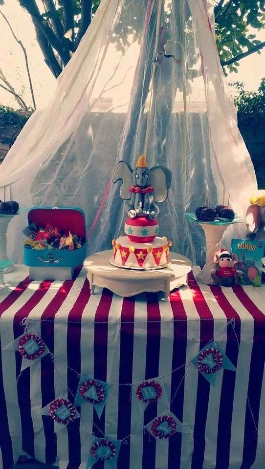 Dumbo Circus Baby Shower Party Ideas Photo 1 Of 29