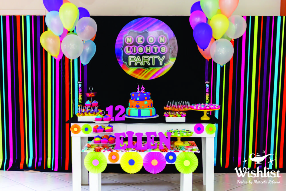 Neon Colors Birthday Party Ideas  Photo 1 of 31  Catch My Party