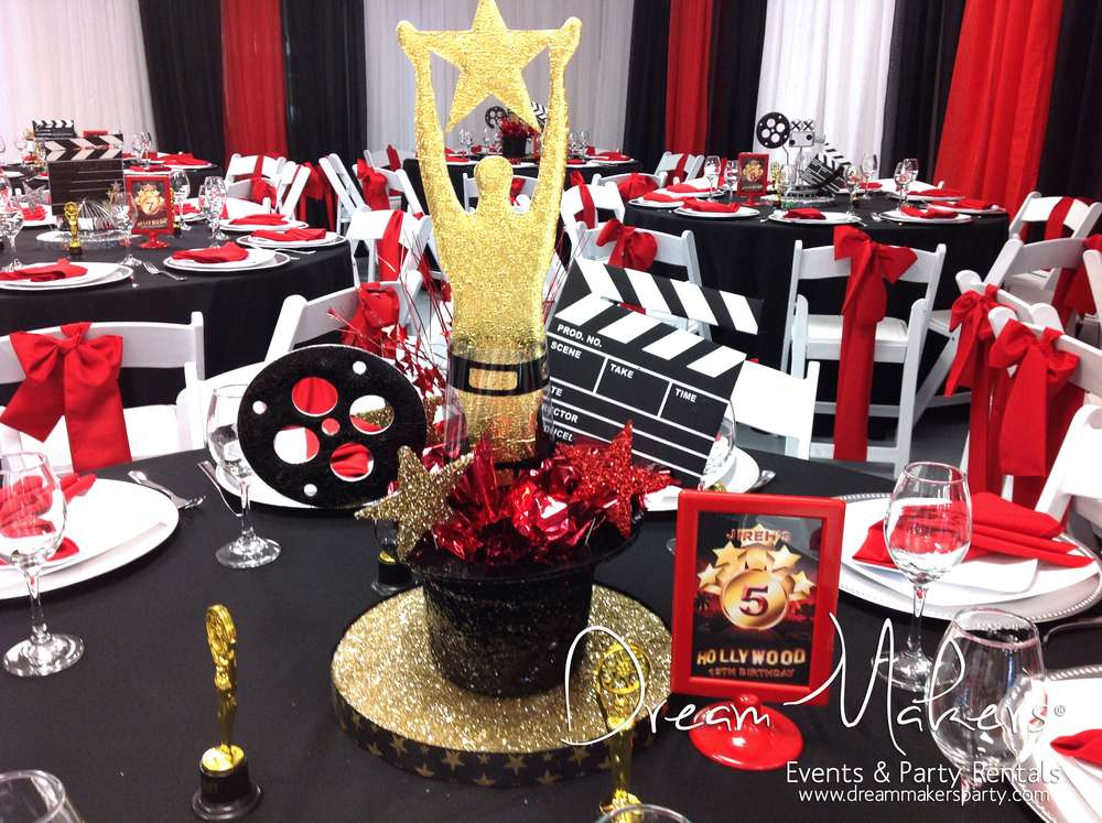 Hollywood birthday party ideas photo 8 of 12 catch my for Hollywood party dekoration