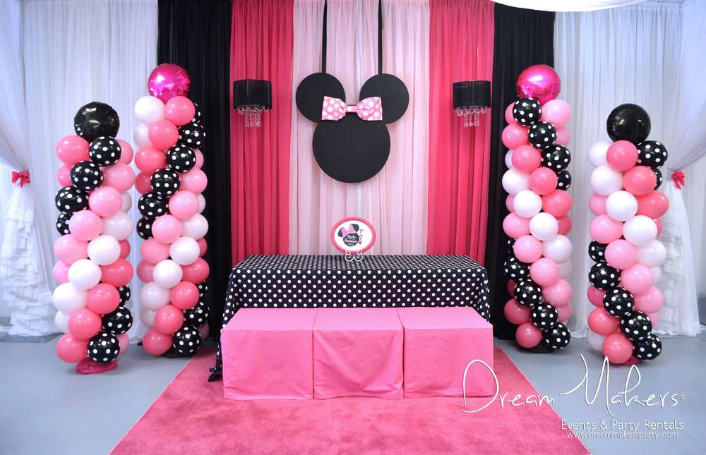 Minnie Mouse Polka Dots Birthday Party Ideas Photo 2 Of 32 Catch My Party