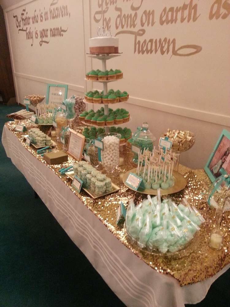Mint and Gold Wedding Party Ideas | Photo 1 of 13 | Catch ...