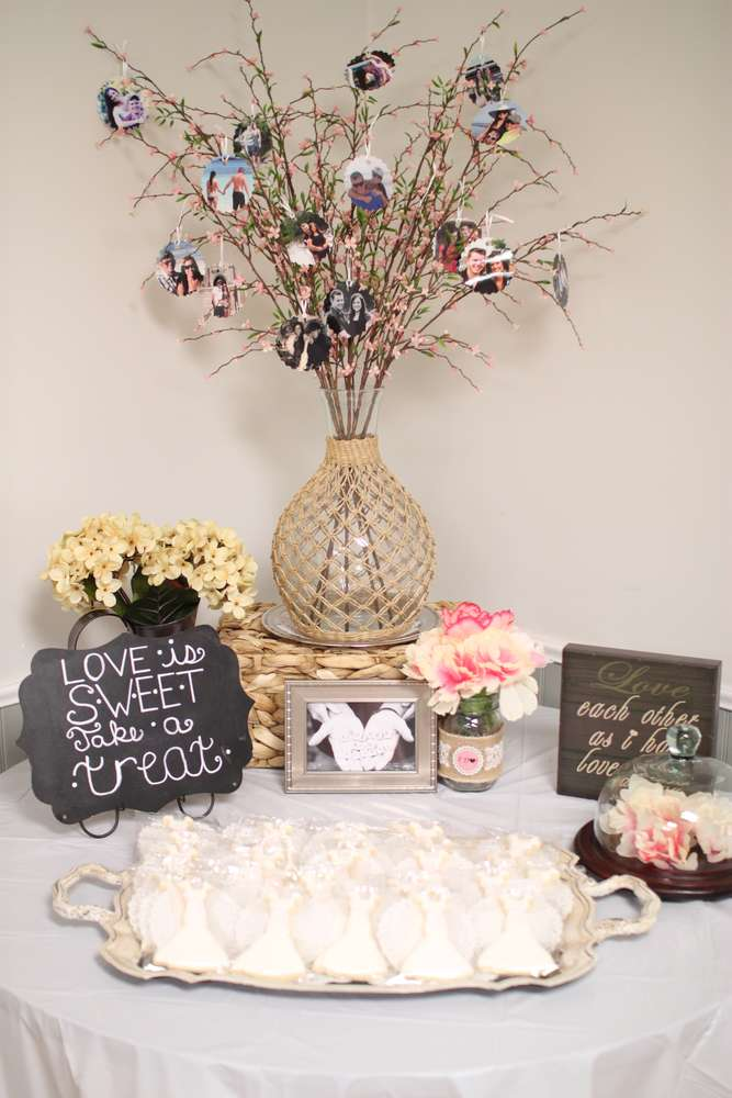 Shabby Chic Vintage Glam Bridalwedding Shower Party Ideas Photo