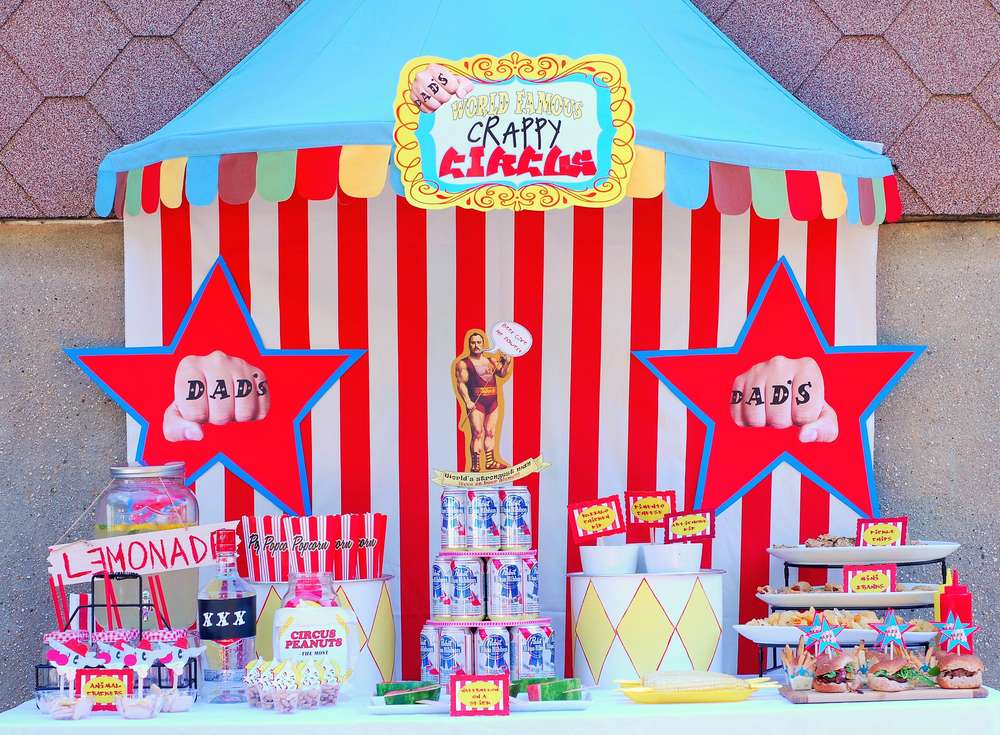 Adult Circus Theme Fathers Day Party Ideas Photo 1 Of 16 Catch