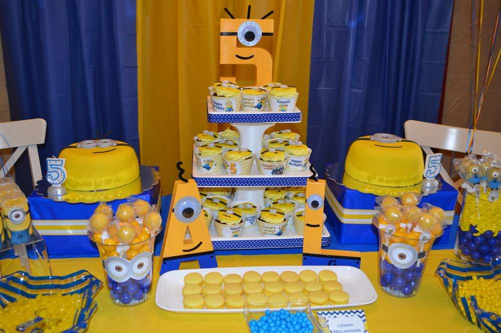 Minions Birthday Party Ideas Photo 9 Of 27 Catch My Party