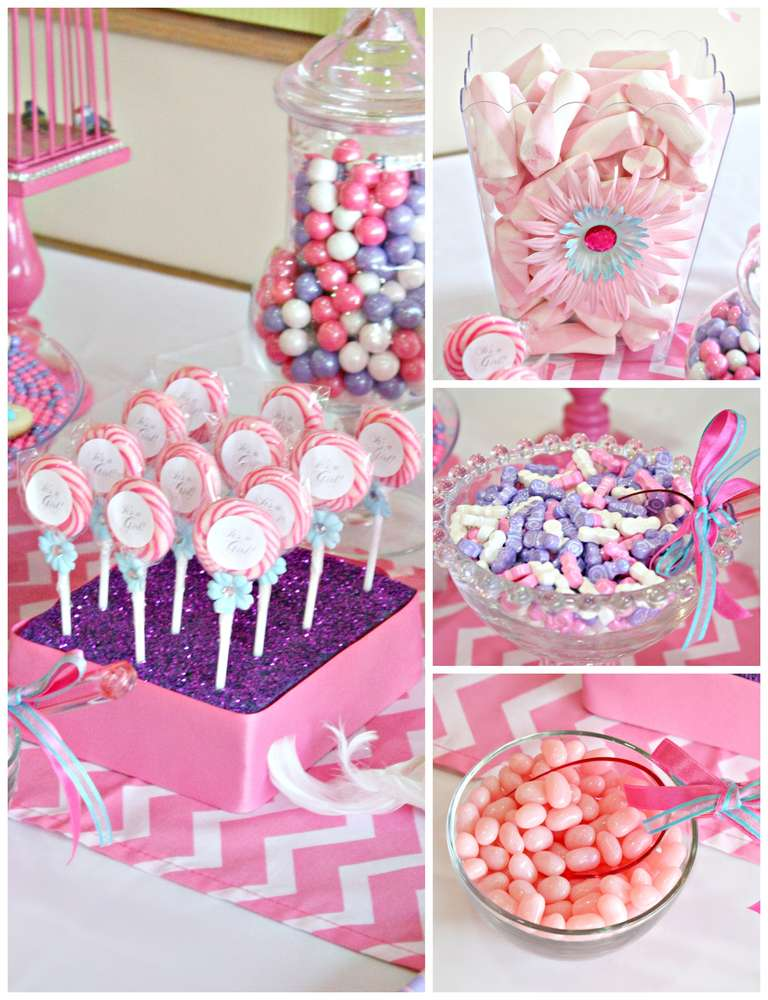 Baby shower party ideas photo 8 of 23 catch my party for Baby welcome party decoration ideas
