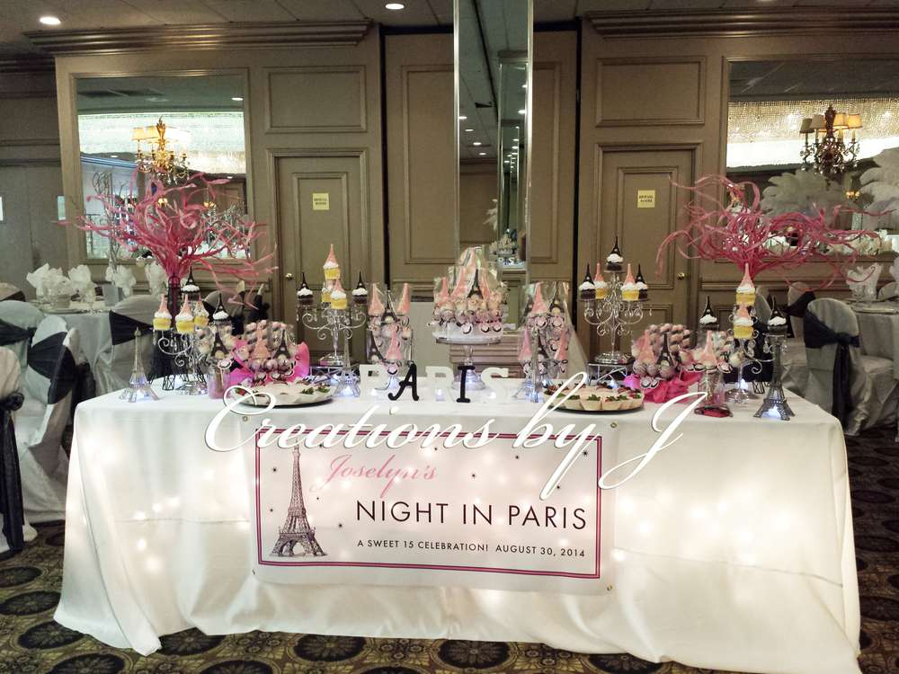 Paris Night Theme Quinceanera Party Ideas Photo 1 Of 12 Catch My
