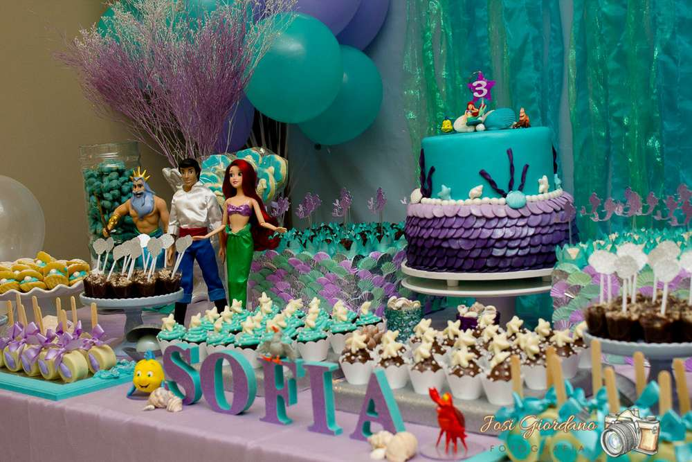 The little mermaid birthday party ideas photo 4 of 15 for Ariel birthday party decoration ideas