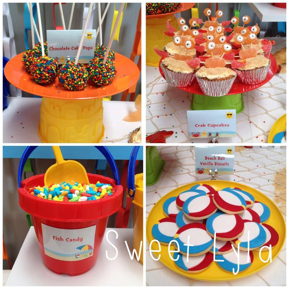 beach theme birthday party ideas photo 3 of 10 catch my party
