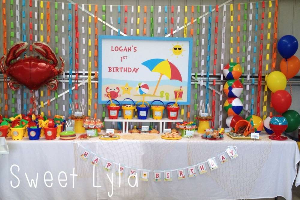 Logans First Birthday Beach Party Learn More About This Previous