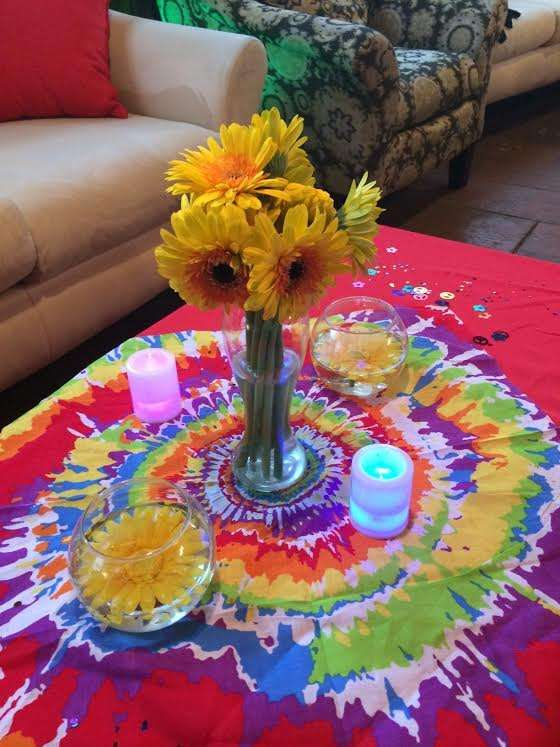 Tie Dye 70 S Birthday Party Ideas Photo 1 Of 11