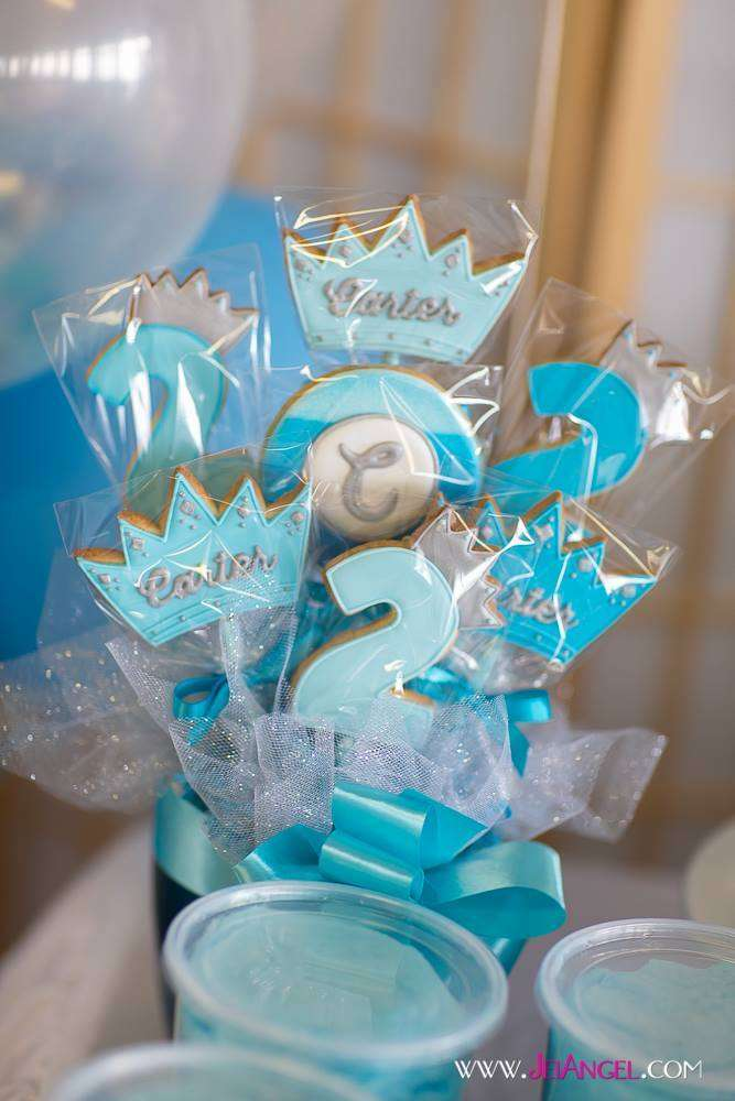 Blue Ombre Prince Birthday Party Ideas