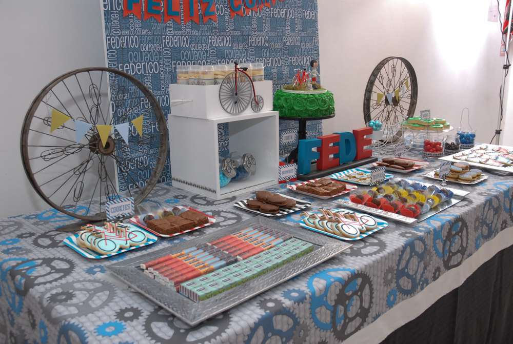 Bicycle Bike Party Birthday Party Ideas Photo 1 Of 27