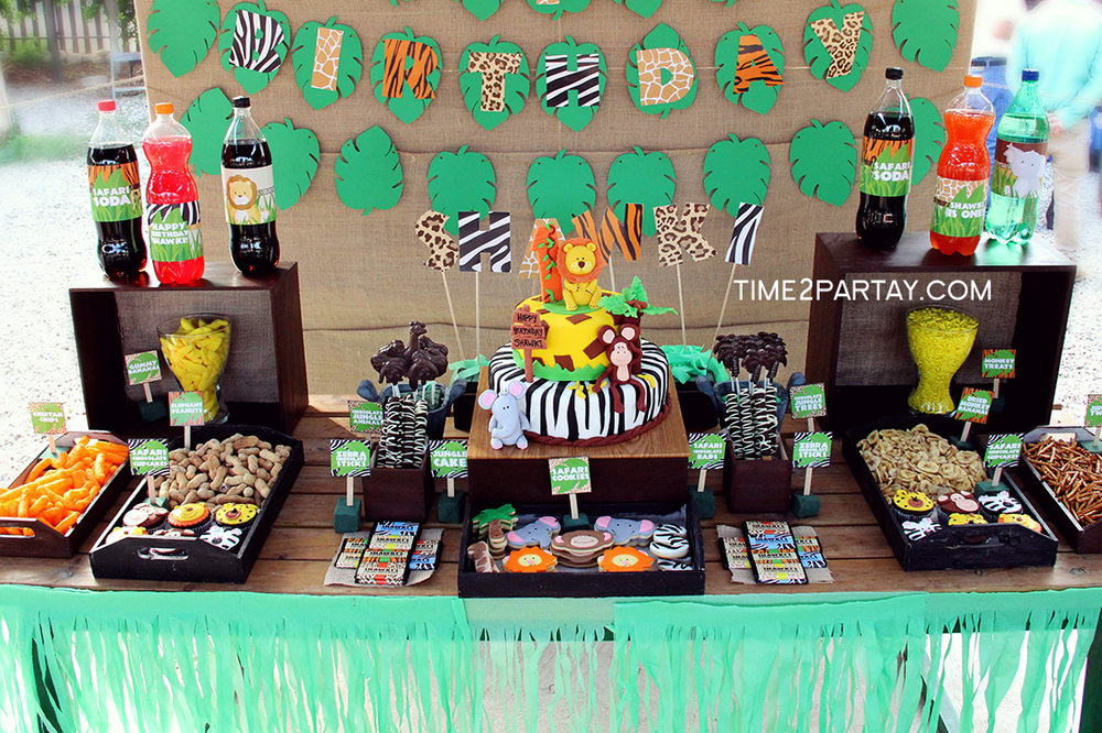 Jungle Themed 1st Birthday