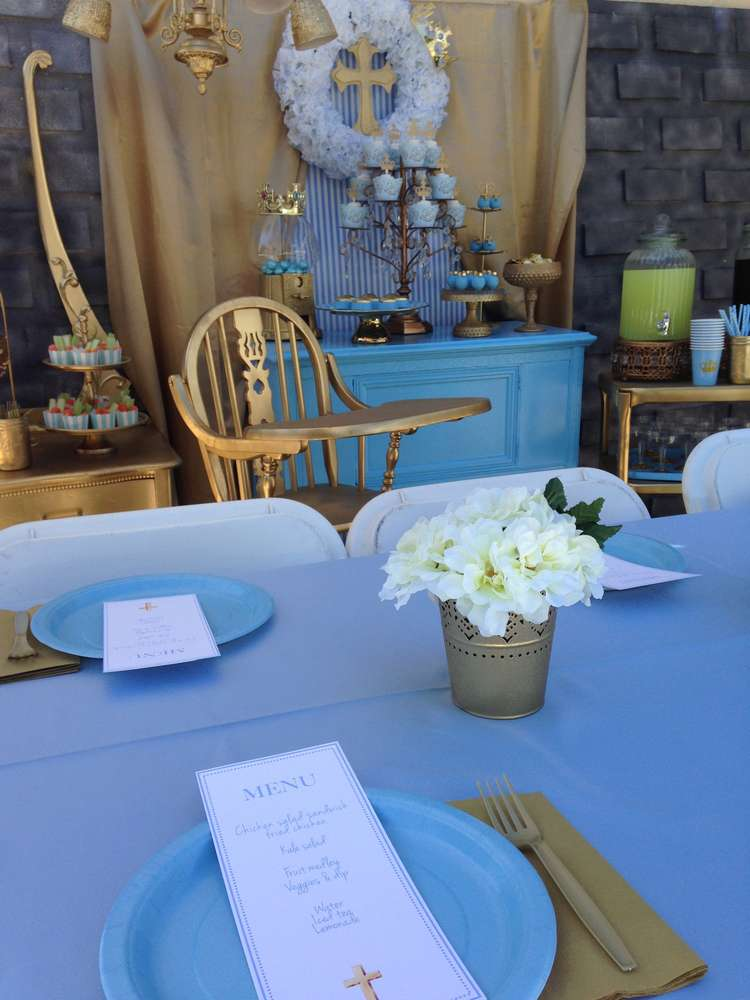 Baptism Party Ideas Photo 1 Of 21 Catch My Party