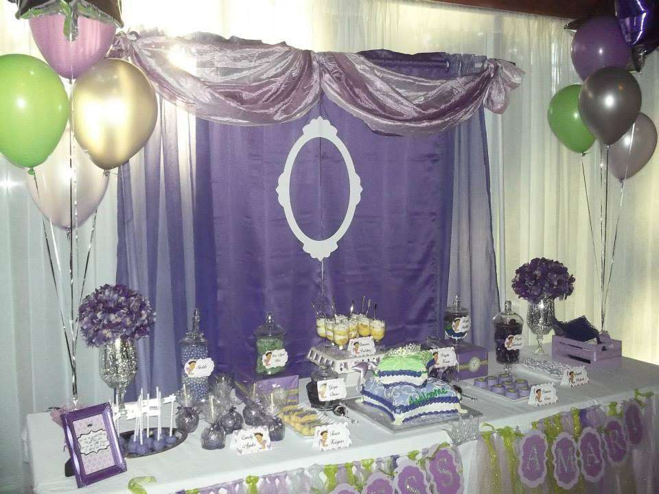 Little Princess Amari Baby Shower (Lavender, Purple, Lime Green And Silver)