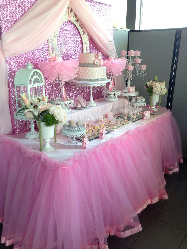 ballerina baby shower party ideas photo 10 of 33 catch my party