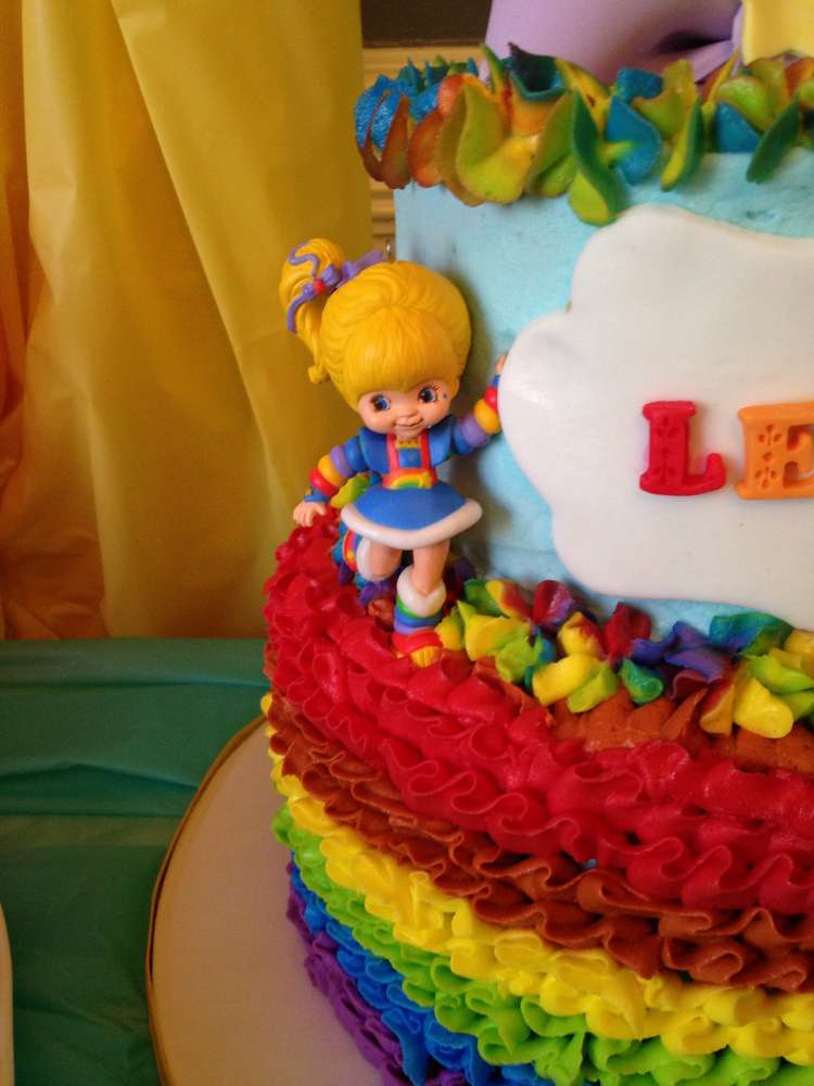 Brilliant Rainbow Brite Birthday Party Ideas Photo 3 Of 16 Catch My Party Birthday Cards Printable Nowaargucafe Filternl