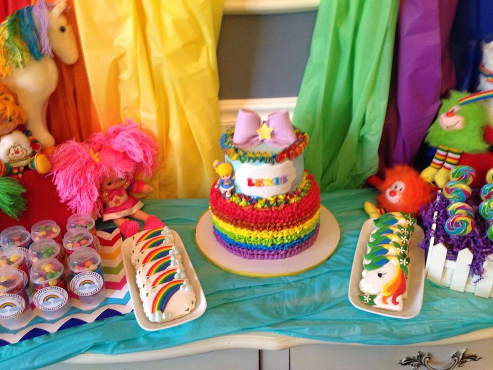 Prime Rainbow Brite Birthday Party Ideas Photo 1 Of 16 Catch My Party Birthday Cards Printable Nowaargucafe Filternl