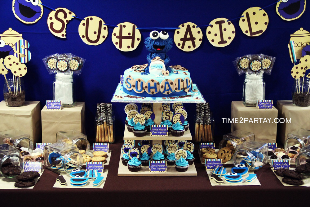 Cookie Monster Birthday Party Ideas Photo 8 Of 37