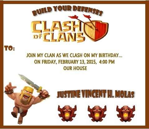 Clash Of Clans Birthday Party Ideas Photo 1 Of 20 Catch My Party