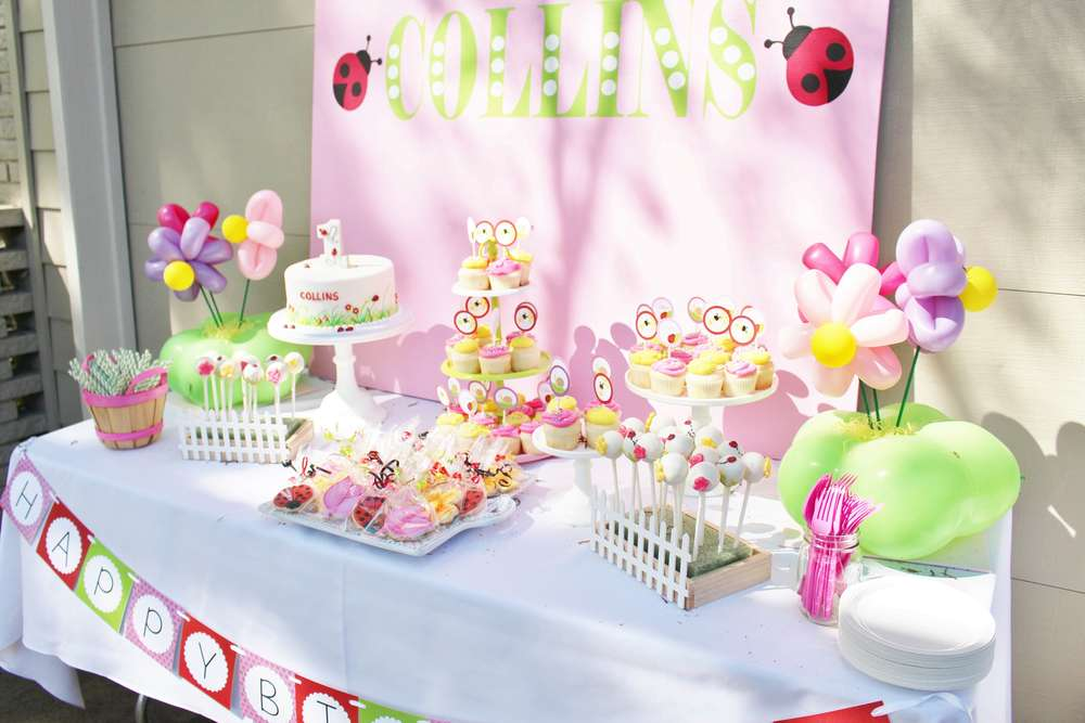 Spring Garden Ladybug Birthday Party Birthday Party Ideas Photo 1