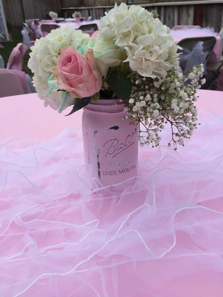 shabby chic baby shower party ideas photo 7 of 27 catch my party