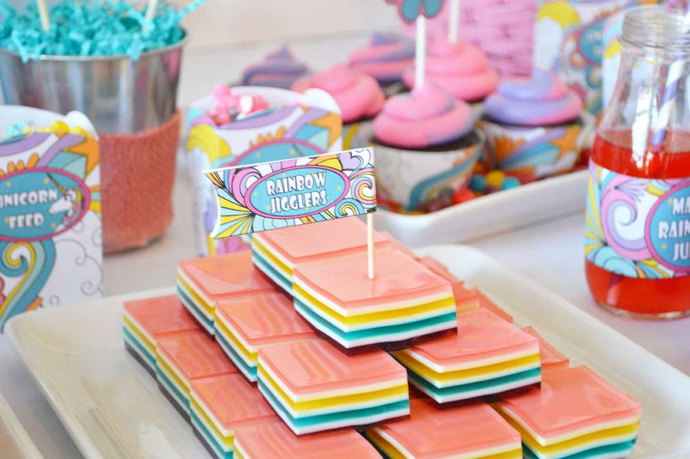 Rainbow Unicorn Birthday Party Ideas Photo 10 Of 19 Catch My Party