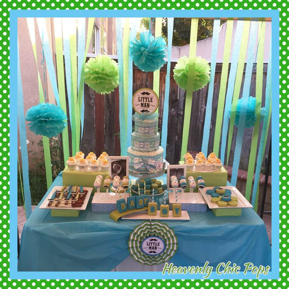 little man baby shower party ideas photo 4 of 9 catch my party