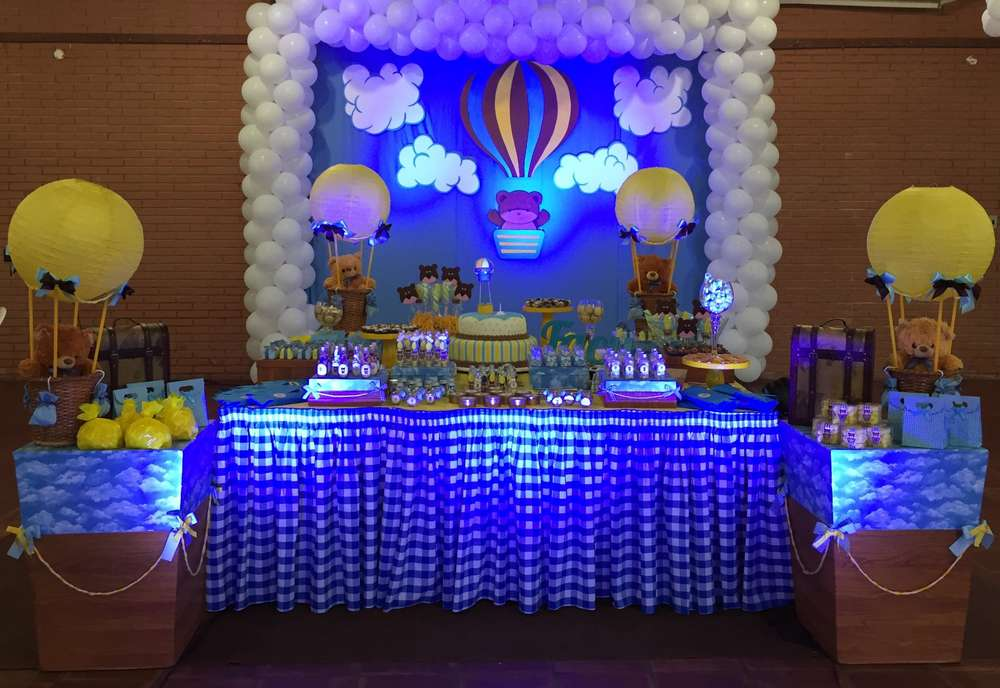 1st Birthday Baby Boy Hot Air Balloon Party